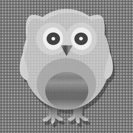 Cute metal vector owl. valentines love background Vector