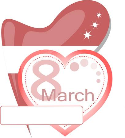 International womens day on 8th march  vector calendar icon Vector