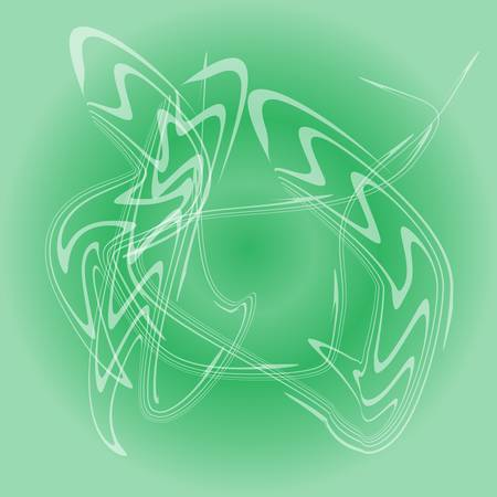 smell of burning: Abstract vector smoke isolated on green background Illustration