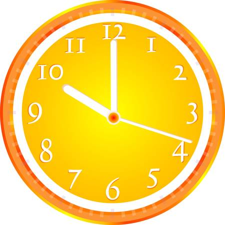 Wall clock, dial beginning of the working day Stock Vector - 12632708
