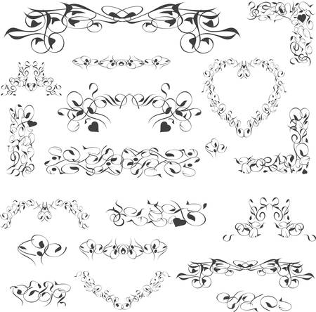 flower vintage royal design element isolated on white. Vector illustration Vector