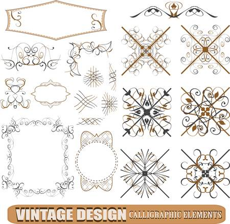 vector set: calligraphic design elements and page decoration (3) - lots of useful elements to embellish your layout Stock Vector - 12632774