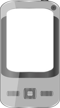 iphon: Grey smartphone isolated on white background - Iphon