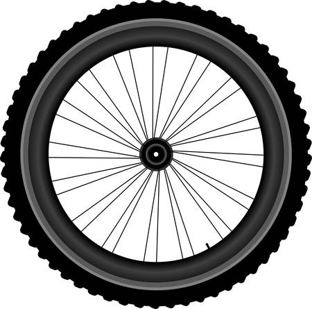 bike vector: Rueda de la bicicleta - ilustraci�n vectorial aislados en fondo blanco Vectores