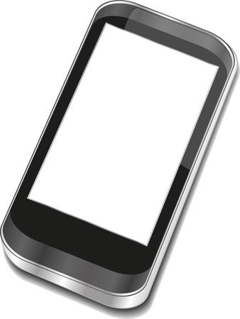 Abstract touchscreen smartphone - 3d smartphone Vector
