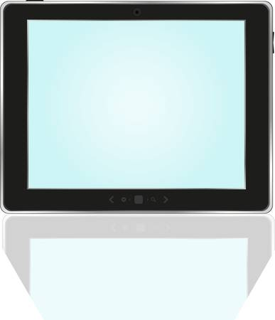 Tablet PC With bright blue screen Vector