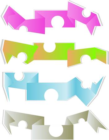abstract paper origami set Stock Vector - 12865719