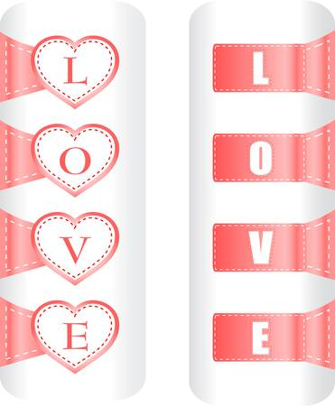 Valentine heart love labels  Vector pattern art Stock Vector - 13081356