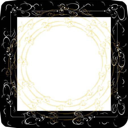 vintage frames with gold abstract ornament Vector