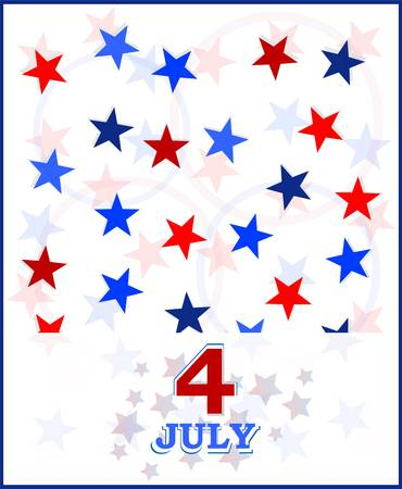 4th of July vector card Stock Vector - 13081372