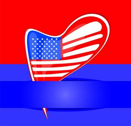 Independence Day Design. Usa vector card design Stock Vector - 13081373