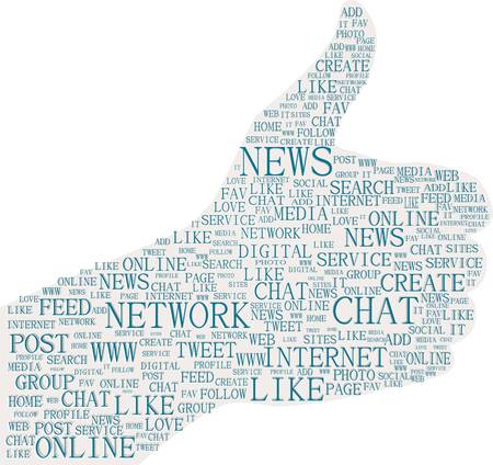 Illustration of the thumbs up symbol, social media Stock Vector - 13201559