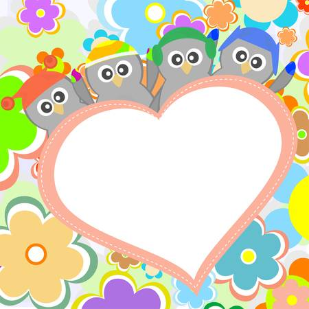 Penguin in love for Valentines greetings Stock Vector - 13201522