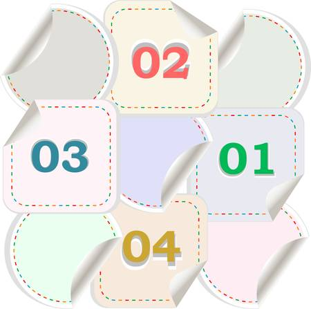 Design of advertisement numbers labels stickers Stock Vector - 13201518