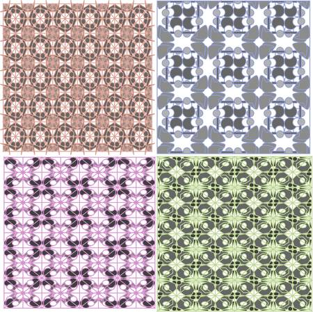 Abstract seamless pattern, vector background set Vector