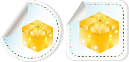 vector holiday modern gift box sale design set Vector