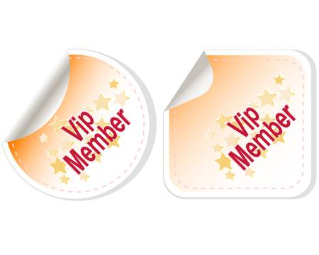 Vip Member Button Label set Vector
