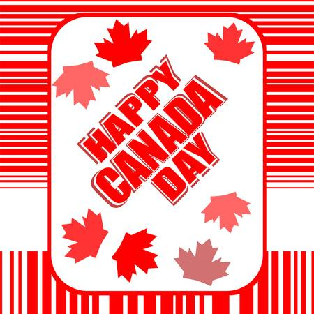Happy Canada Day card in greeting theme Vector