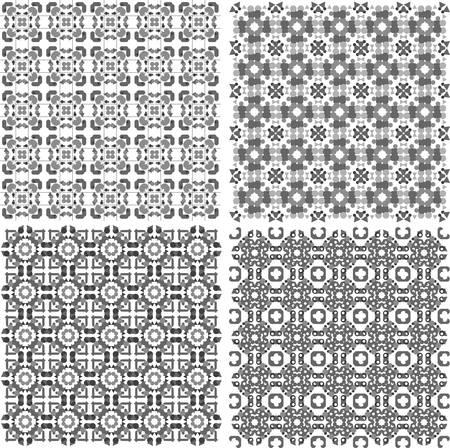 Seamless Metal arabic Textures Set. retro vintage design Stock Vector - 13293357