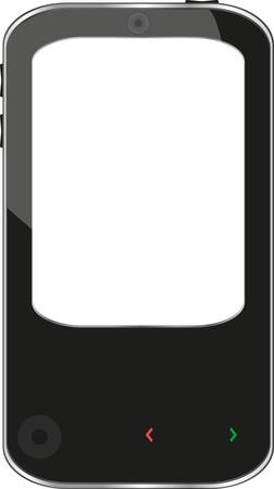 cellphone smartphone isolated on white background Stock Vector - 13293161