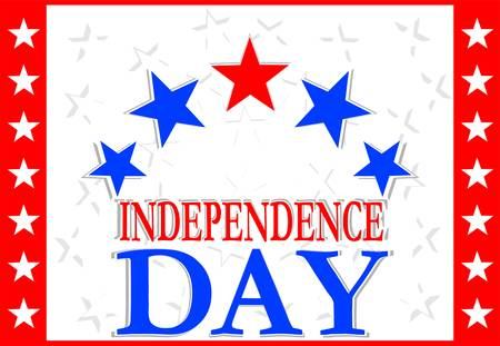 Independence Day Design - usa greetings banner - american sign Stock Vector - 13293246