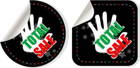total: Sale collection stickers set - label total sale Illustration