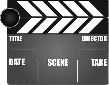 movie clapper board isolated on white background Vector