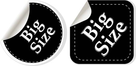 big size: big size clothing stickers set - fashion theme