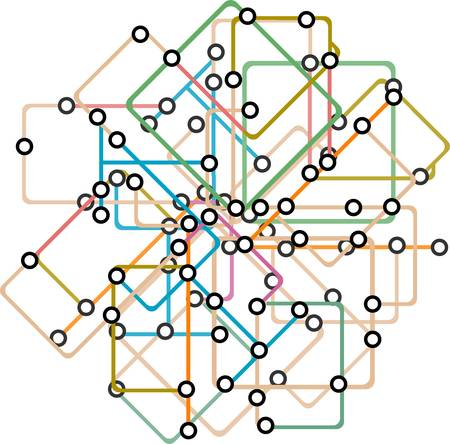 abstract background of a subway map Vector