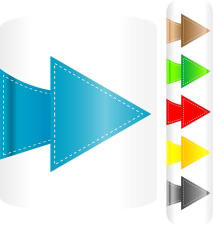 Vector set of arrows - stickers label tag Vector