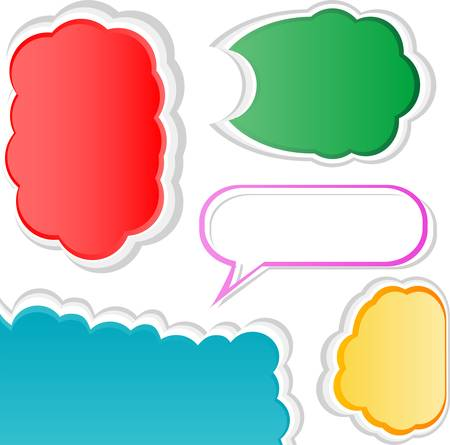 Colorful bubble for speech. Set of vector banners Vector
