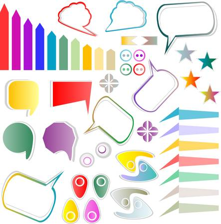 web elements design scrapbook vector set Stock Vector - 13414847