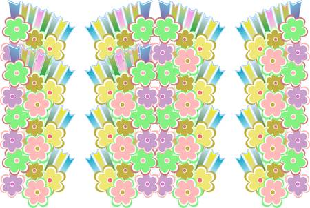 flower decoratively romantically seamless abstraction illustration