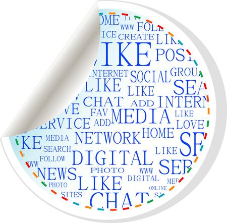 Social media button label tag sticker Stock Vector - 13614754