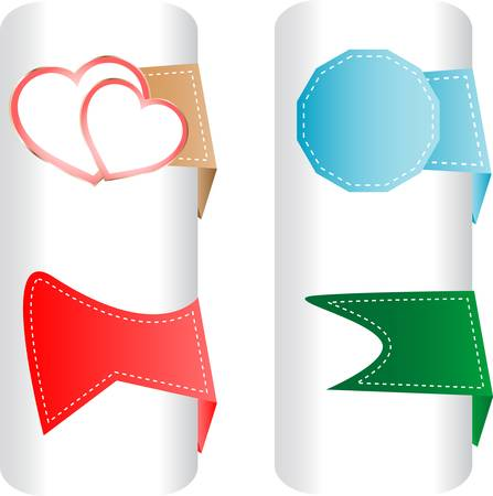 set labels. stickers for love valentine heart  Vector