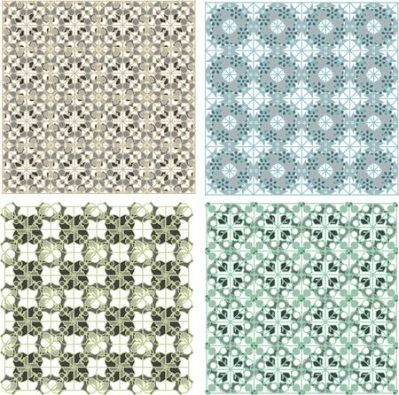 Set of stylish seamless geometrical backgrounds pattern Vector