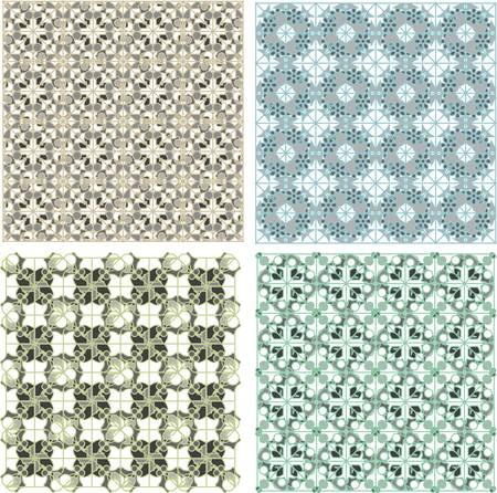 Set of stylish seamless geometrical backgrounds pattern Vector