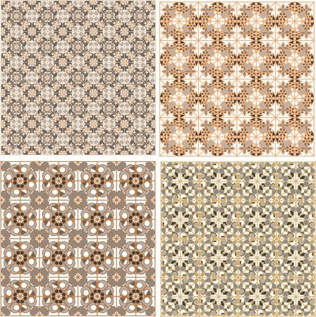 set of seamless patterns in islamic style Vector
