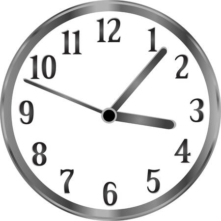 Silver clock, time, year, passing simple concept Vector