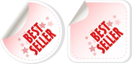 Best seller red stickers set Vector