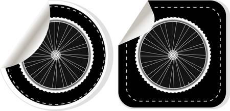 rubber tube: white bike wheel sticker set