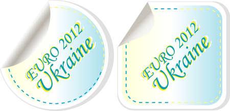 ukraine euro 2012 in flag colors sticker set