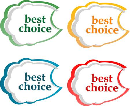 vector bubble speech with Best Choice motive Stock Vector - 13818015