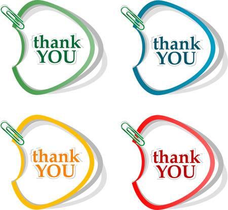 Thank you - grateful bubbles. Vector illustration Vector