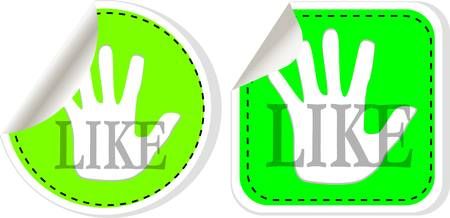 Social media and network concept. vector green like button set Stock Vector - 13818048