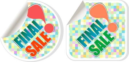 Final sale - best vector discount sale stickers set Vector