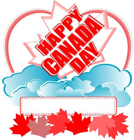 Happy Canada Day card in vector - holiday Vector