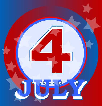 4th of July independence day background. vector Vector