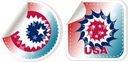 Vector made in USA stickers set isolated over a white background Vector