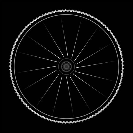 Bike wheel - vector illustration on black background Stock Vector - 13818041